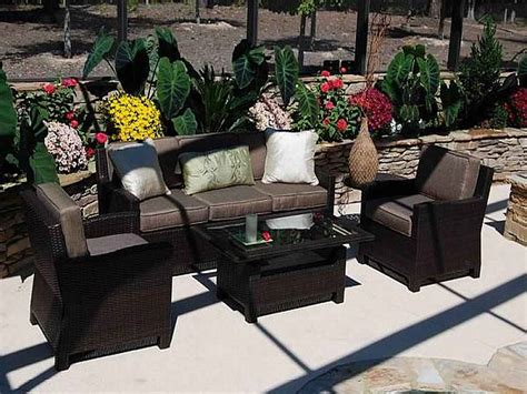 Weatherproof Patio Furniture Sets Black Wicker Patio Furniture Sets