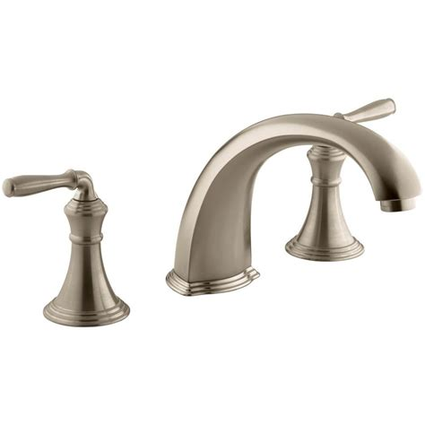 kohler bathtub faucet kohler devonshire 2 handle deck and rim mount roman tub