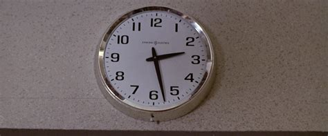 General Electric Wall Clock in Time After Time (1979) Movie In Time Movie Clock