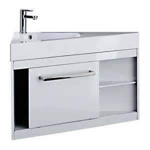 meuble sous vasque d angle powell blanc 79 cm castorama