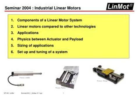 linear induction motor industrial applications ppt a seminar on linear induction motor powerpoint presentation id 277633