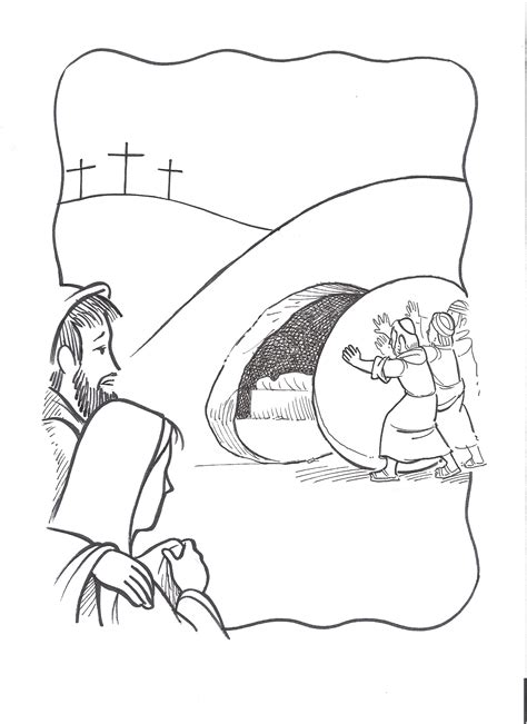 coloring pictures of jesus empty tomb jesus burial tomb coloring pages