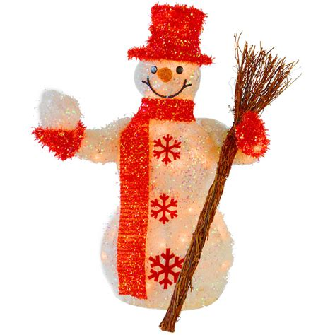 60cm festive light up snowman indoor christmas decoration