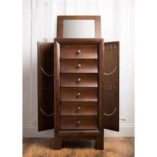 jewelry armoire kmart hives honey ashton walnut jewelry armoire