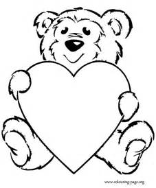 coloring pages bear heart cooloring