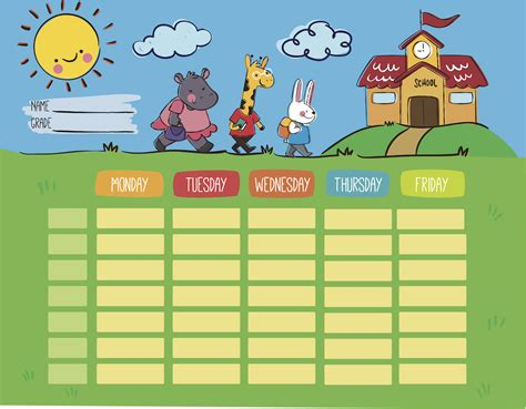 children s calendar template printables