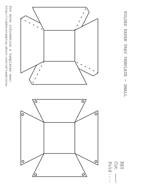 Folded Paper Template - free printable paper tray template