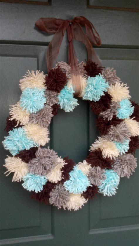 pom pom wreath   crafty pom pom wreath wreaths pom pom crafts