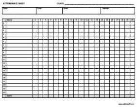 Free Attendance Sheet Template For Teachers by Esl Certificates Lesson Plan Templates Attendance Sheets