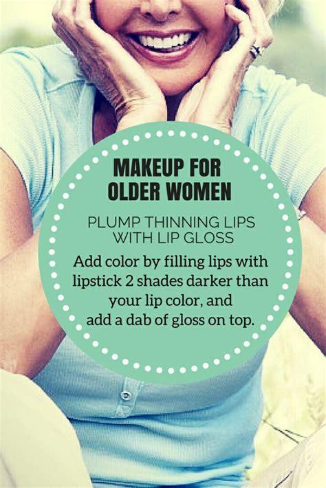 makeup  older women  plump  thinning lips