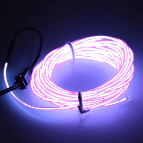 led neon light 1m car 12v led neon light glow el wire