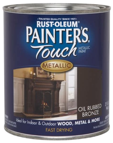 rust oleum 254101 painters touch quart based metallic rubbed bronze 020066196462