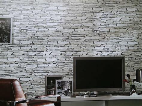 wohnzimmer 3d tapeten steintapeten in 3d optik grau beige braun wohnzimmer