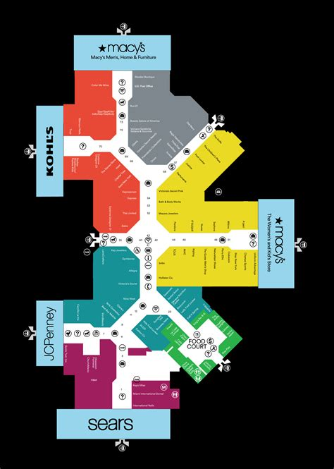layout of dolphin mall mall map of miami international mall a simon mall doral fl