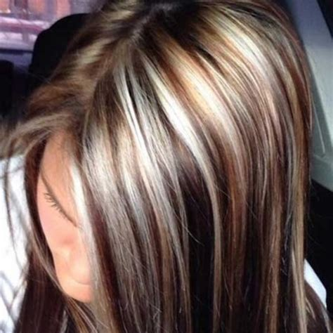 chocolate brown hair with chunky blonde highlights chocolate brown hair with chunky blonde highlights