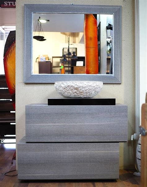 mobile bagno grigio mobile bagno grigio minimal in offerta compreso di specchio