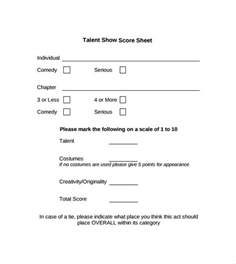 No Call No Show Letter Template Sample Talent Show Score Sheet 8 Example Format