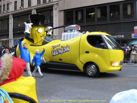 Planters Nutmobile by Macy S Thanksgiving Day Parade In Nyc 2008 Photos At