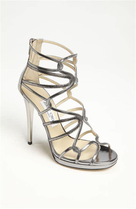 jimmy choo silver sandals jimmy choo lake sandal in silver lyst