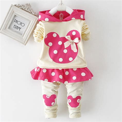 new autumn baby clothing set minnie mouse