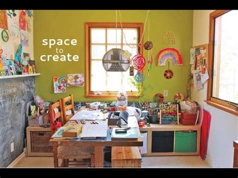 creating a home space to create a home art studio for kids youtube