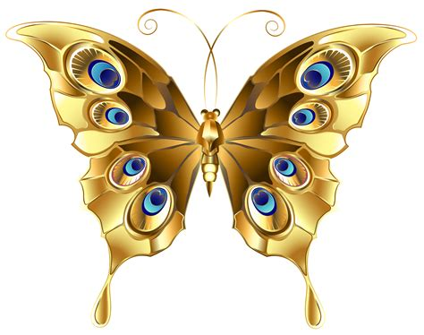 Butterfly Gold gold butterfly clipart png