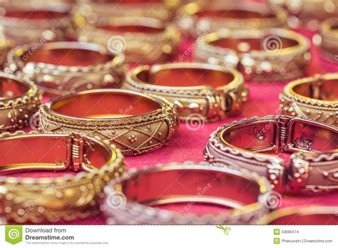 Handmade In Thailand - thai style handmade bangle in thailand stock photo