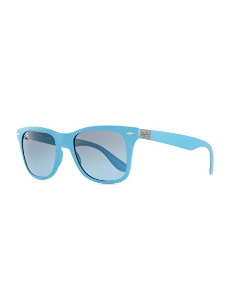 Blue Light Glasses by Ban Liteforce Tech Wayfarer Sunglasses Light Blue In