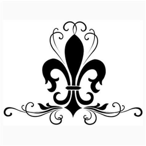 flur design black fleur de lis logo design models picture