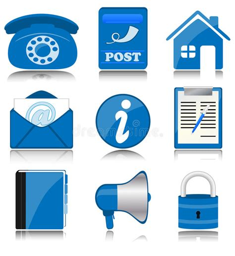 Blue Office by Blue Office Icons Stock Vector Image Of Address Contact