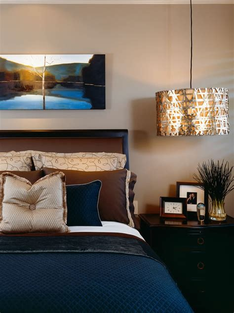 navy blue and brown bedroom rebecca robson design pictures remodel decor and ideas