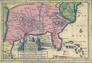 florida territory map when florida touched the mississippi the florida memory