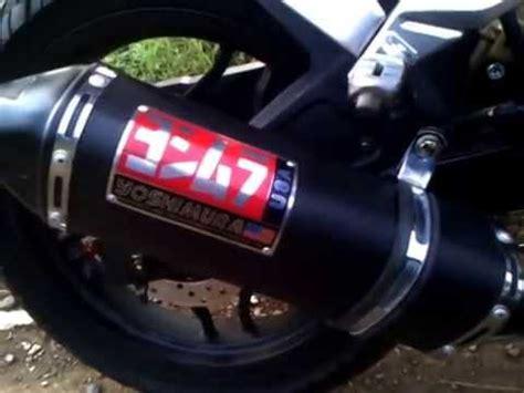 Knalpot Racing Cbr150rfaceliftcbr150rk45newcb150r Slipon Yoshimura pulsar 200ns yoshimura carbon vinyl exhaust sound