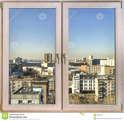 la ciudad con ventanas view to the city through new windows royalty free stock images image 38633459