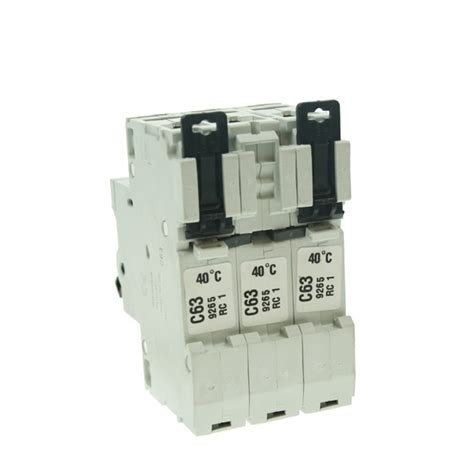 Sisir Mcb 3 Phase mem 63 c type three phase mcb at uk electrical supplies