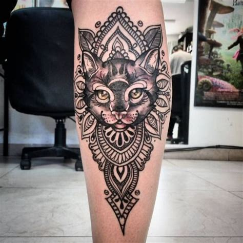 tattoo mandala katze girl neo traditional tattoo buscar con google tatuaże