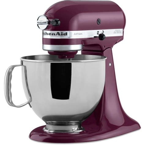 home kitchen aid kitchenaid artisan 5 qt boysenberry stand mixer ksm150psby the home depot