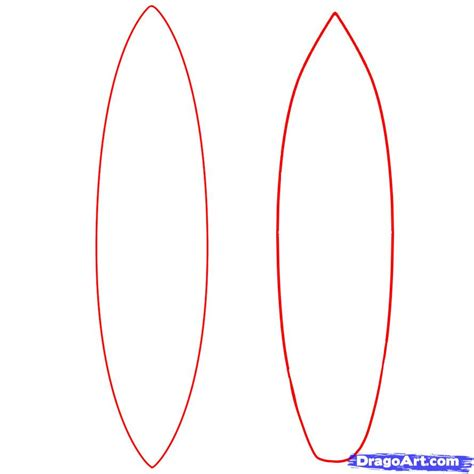 how to draw a surfboard draw surfboards step by step