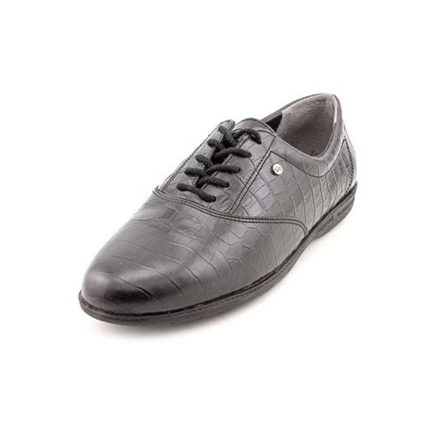 Easy Spirit Comfort 2 Shoes by Easy Spirit Motion 2a Leather Black Oxford Comfort