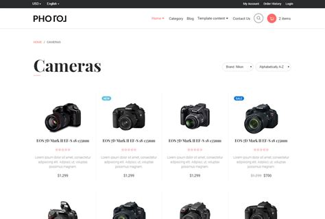 Photo Bootstrap 4 Ecommerce Template By Ondrique Themeforest Bootstrap 4 Ecommerce Template