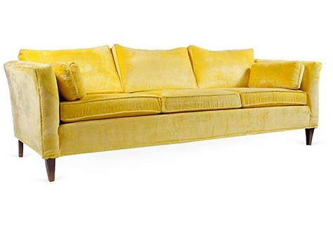 yellow velvet sofa vintage canary yellow velvet sofa grey walls beautiful