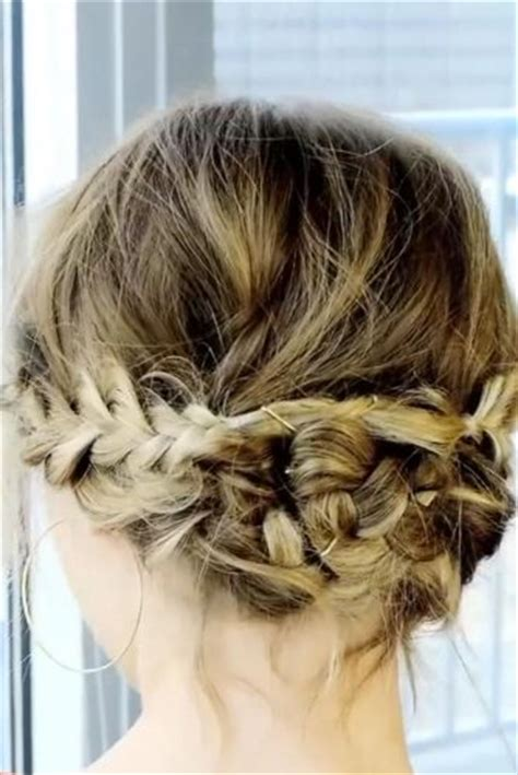 braided updo   messy touch  short hair lovehairstylescom