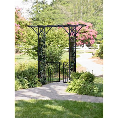 Chan S Garden Arbor Review Garden Oasis Cac 041a Metal Arbor With Gate Sears Outlet