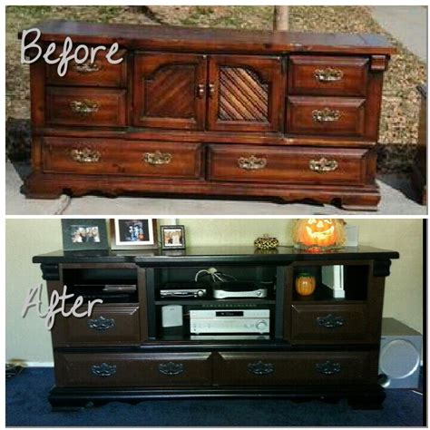 Diy Dresser Into Entertainment Center by Diy Dresser Entertainment Center For The Home
