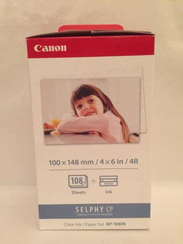 Paper Canon Kp 108ip canon kp 108in color sheet paper