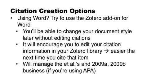 apa format zotero use zotero for your literature review