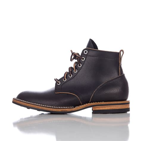 viberg boots viberg service boot in black waxed flesh in brown for