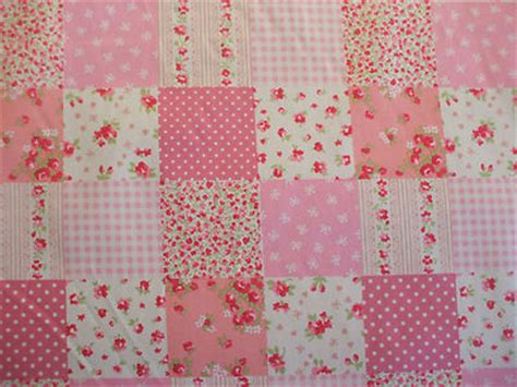 Patchwork Cotton - patchwork print 100 cotton fabric in pink