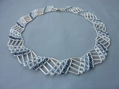 net necklace pattern free beading pattern for necklace diagonal net