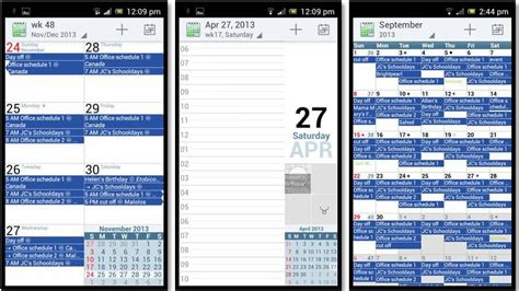 acalendar android calendar 5 top android apps to schedule business meetings